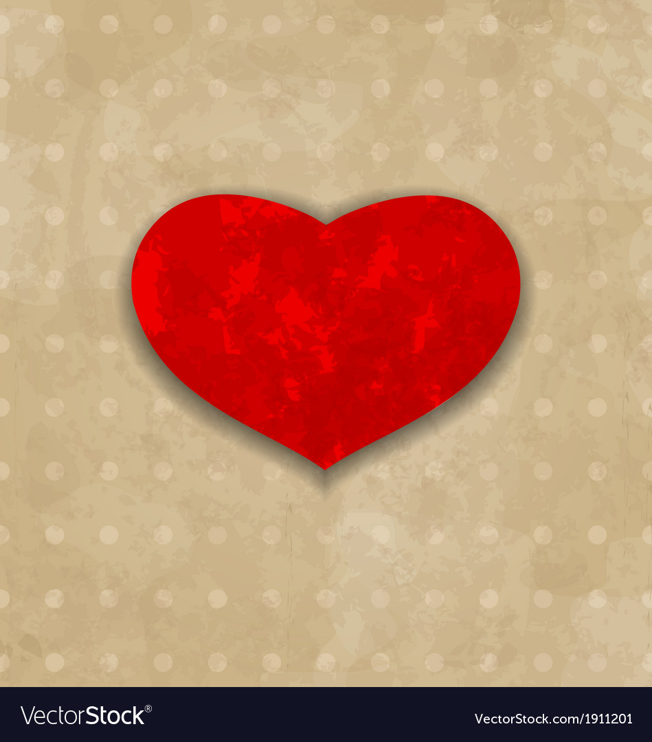 Red grunge heart for valentine day vector | Price: 1 Credit (USD $1)