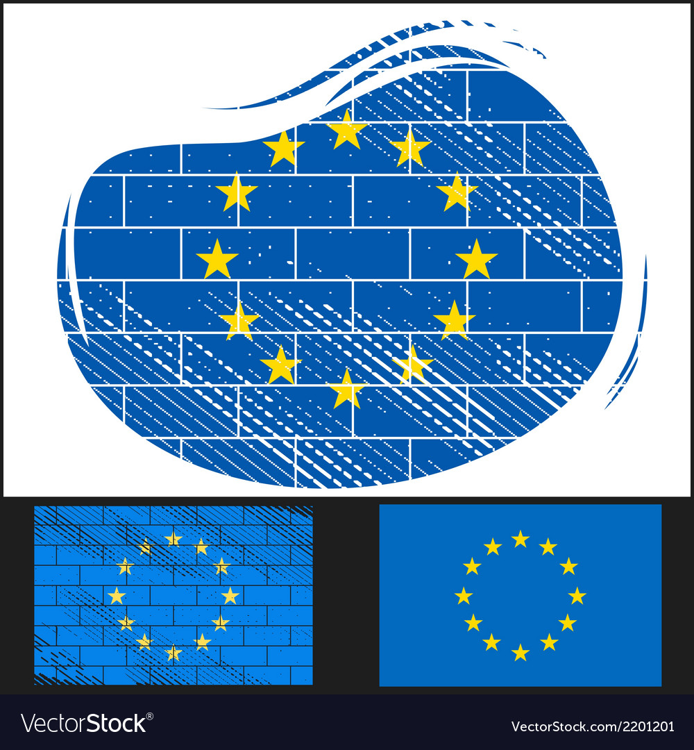 Scratched eu flag vector | Price: 3 Credit (USD $3)