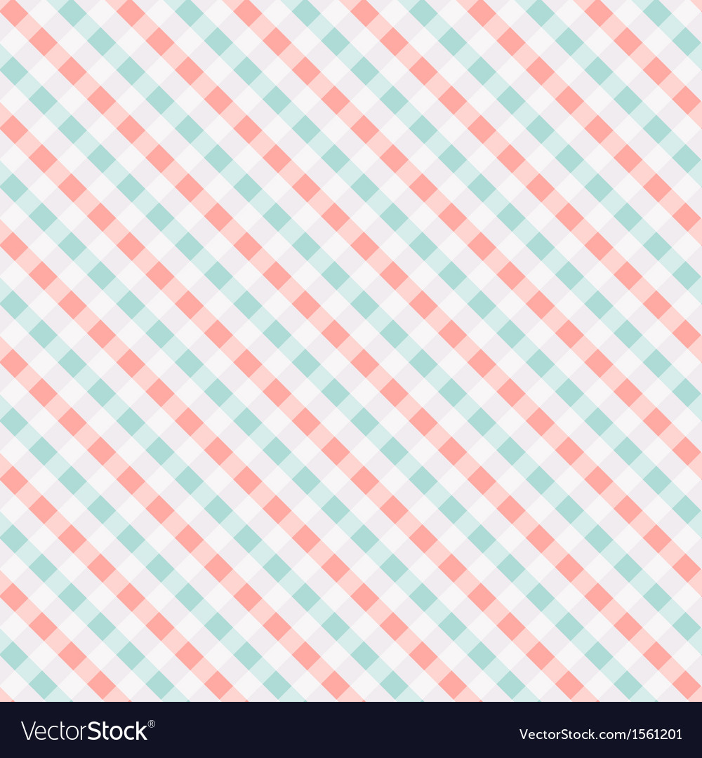 Seamless chekered pattern coral and turquoise vector | Price: 1 Credit (USD $1)