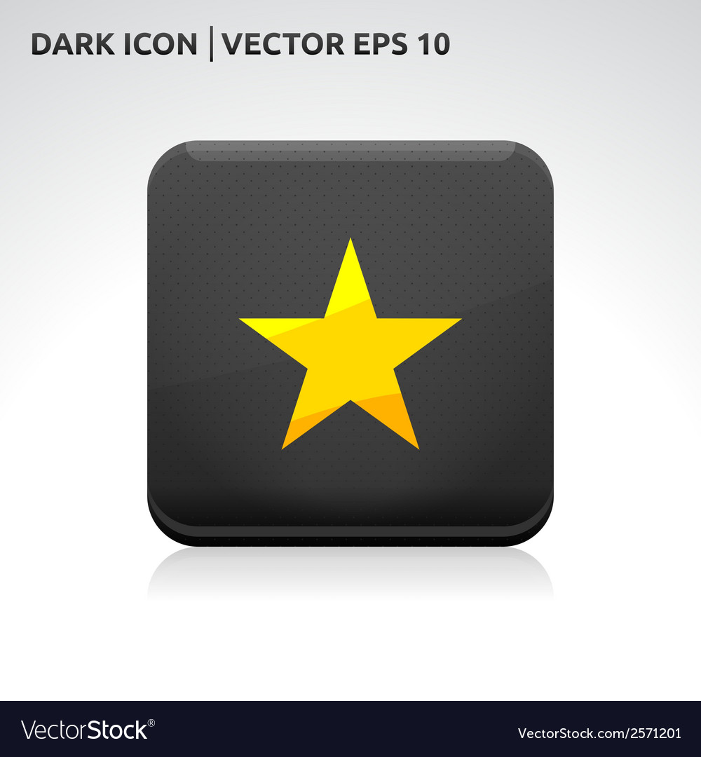 Star favorite icon gold vector | Price: 1 Credit (USD $1)