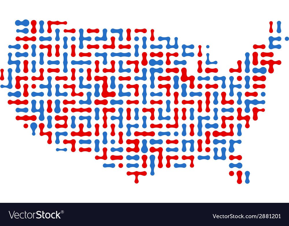 Usa abstract map vector | Price: 1 Credit (USD $1)