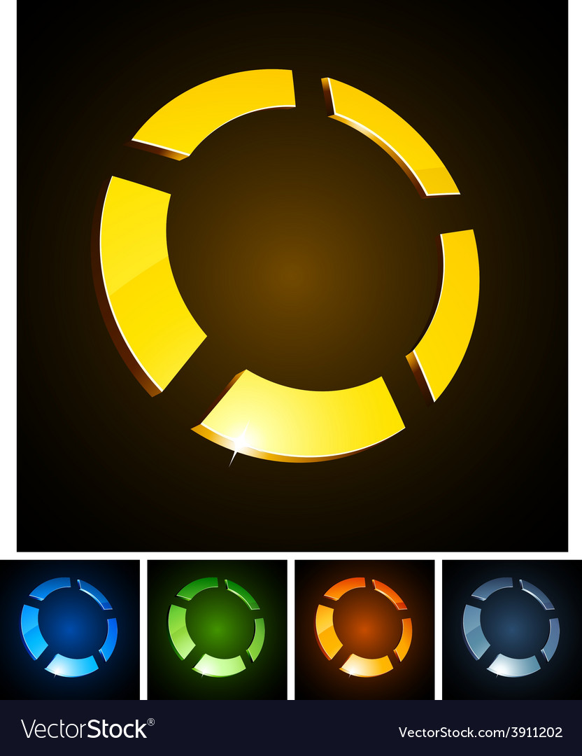 3d round emblems vector | Price: 1 Credit (USD $1)