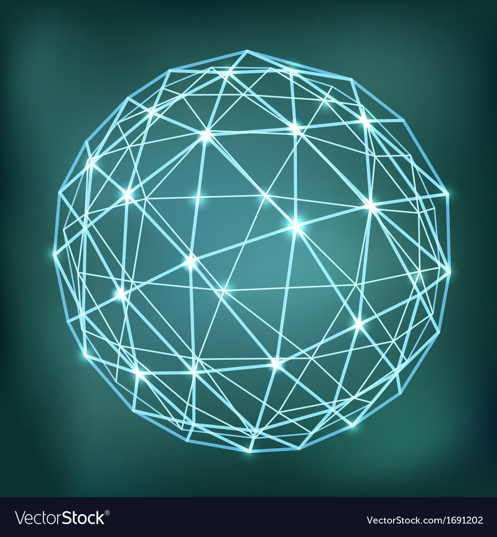 Abstract geometric sphere composition with glowing vector | Price: 1 Credit (USD $1)