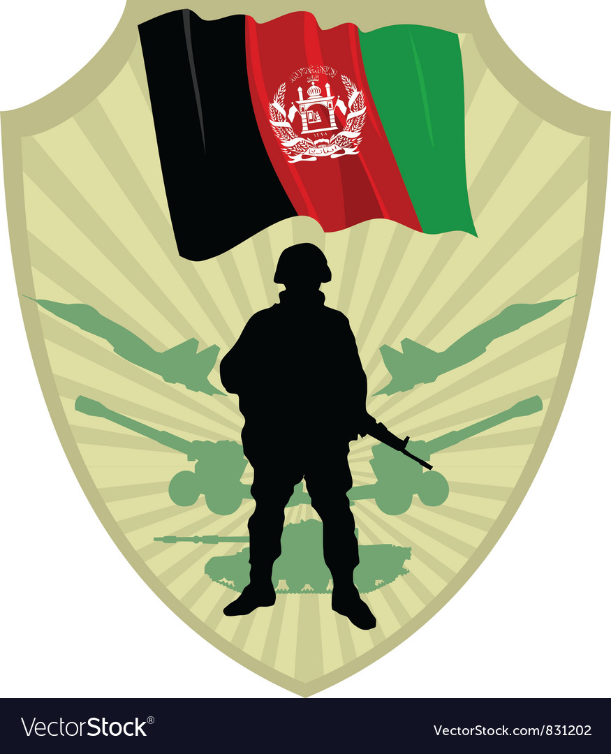 Army of afghanistan vector | Price: 1 Credit (USD $1)