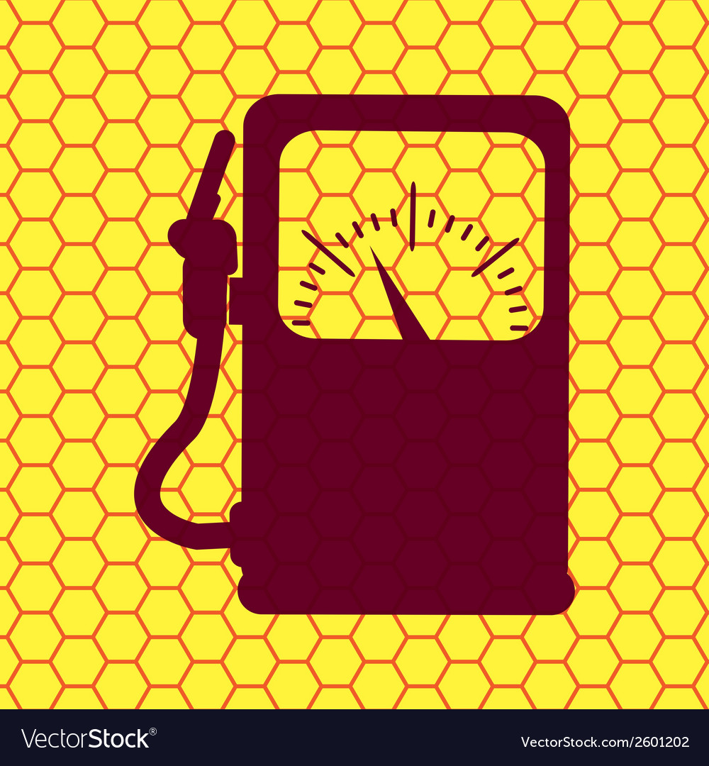 Gas fuel station flat modern web button and space vector | Price: 1 Credit (USD $1)