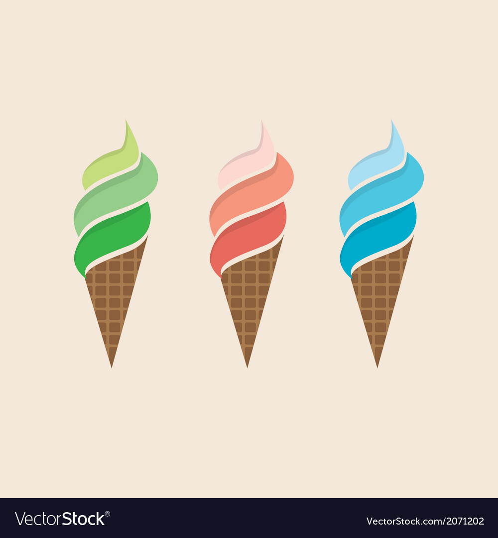 Ice cream colorful set vector | Price: 1 Credit (USD $1)