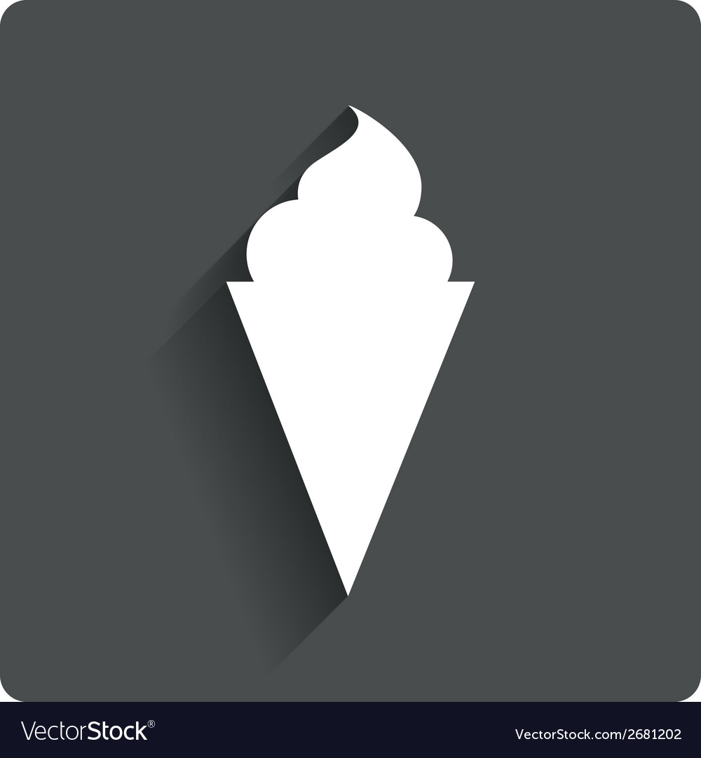Ice cream sign icon sweet symbol vector | Price: 1 Credit (USD $1)