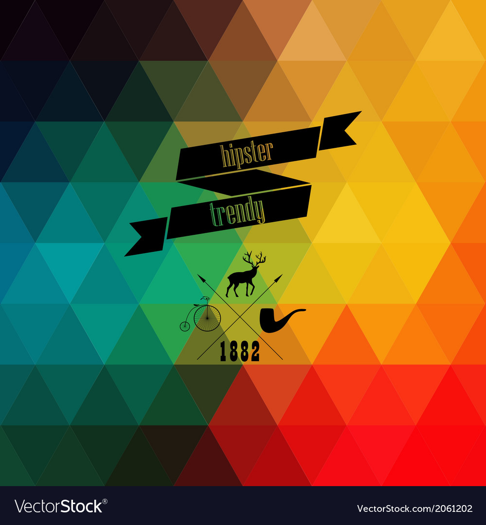 Retro supply on hipster background made of vector | Price: 1 Credit (USD $1)