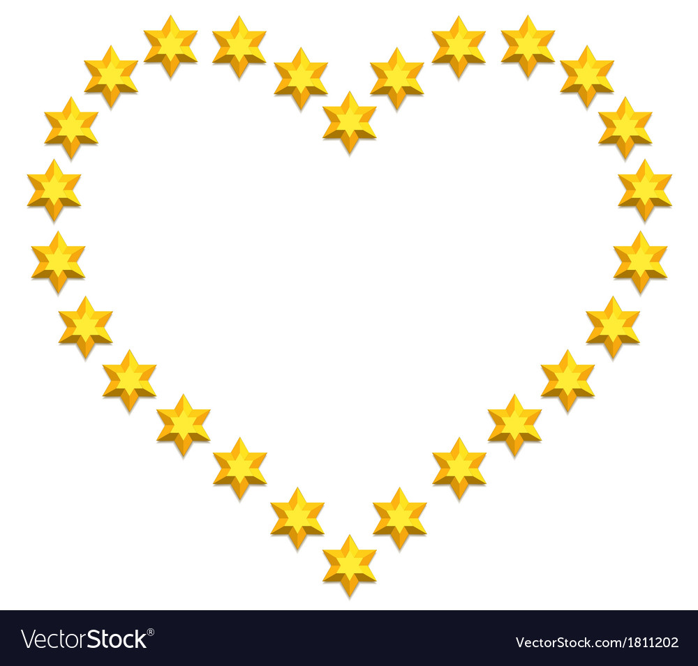 Stars heart vector | Price: 1 Credit (USD $1)