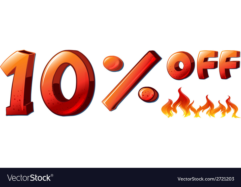 A ten percent off sale vector | Price: 1 Credit (USD $1)