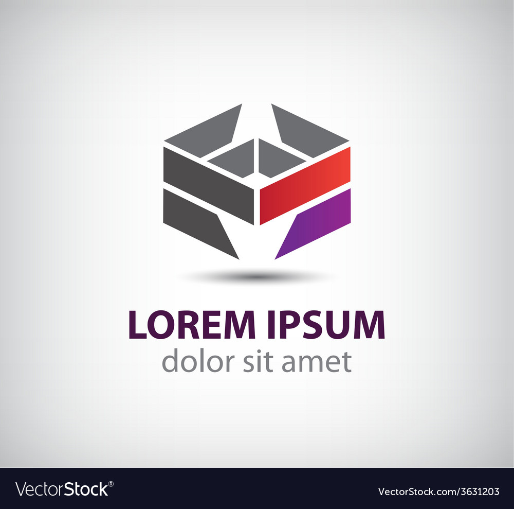 Abstract geometric icon logo isolated vector | Price: 1 Credit (USD $1)
