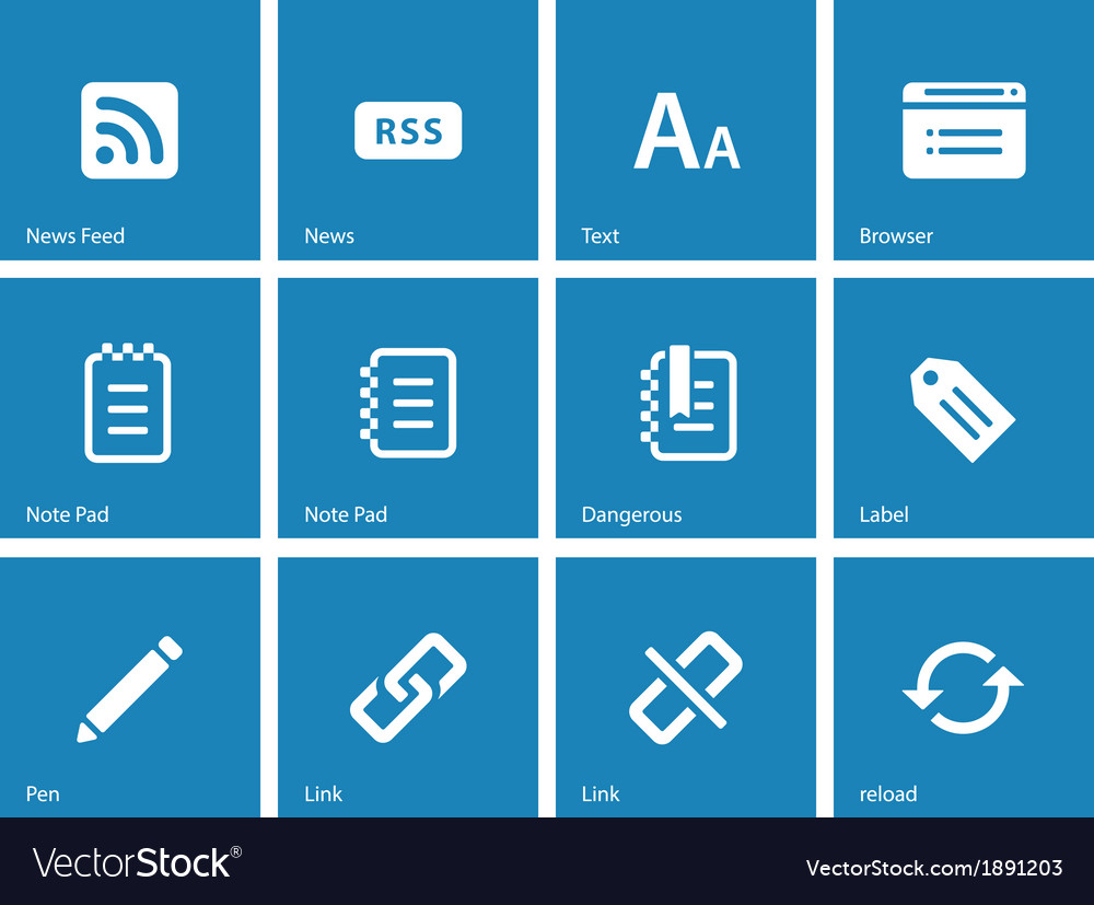 Blogger icons on blue background vector | Price: 1 Credit (USD $1)