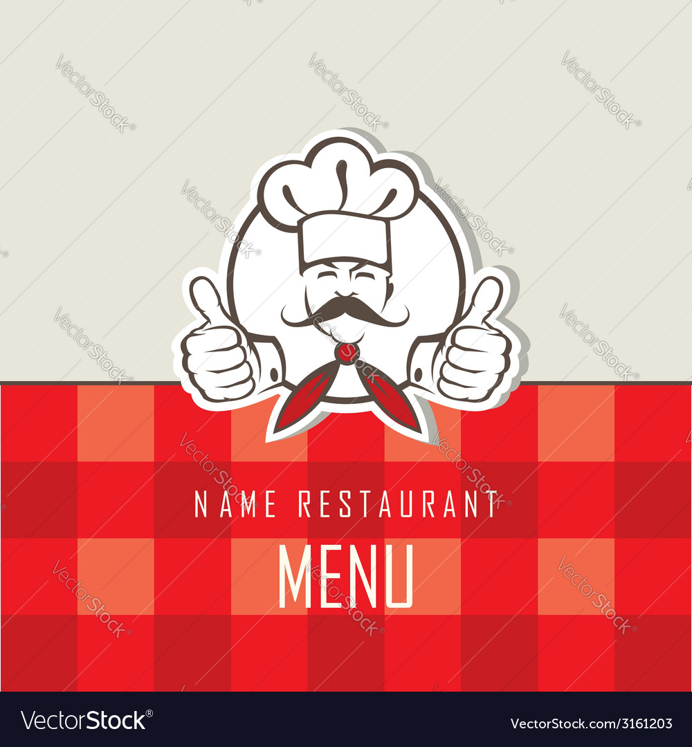 Chef menu design vector | Price: 1 Credit (USD $1)
