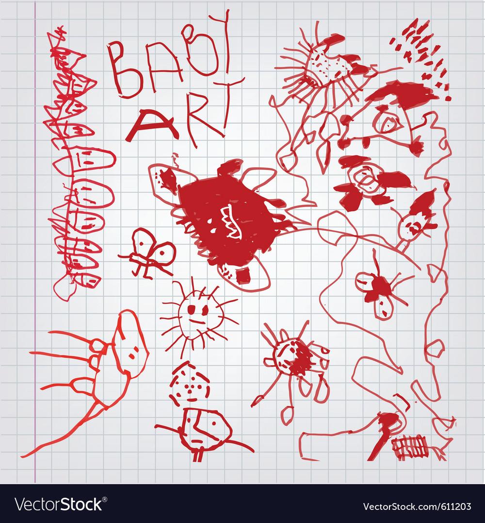 Children drawings vector | Price: 1 Credit (USD $1)