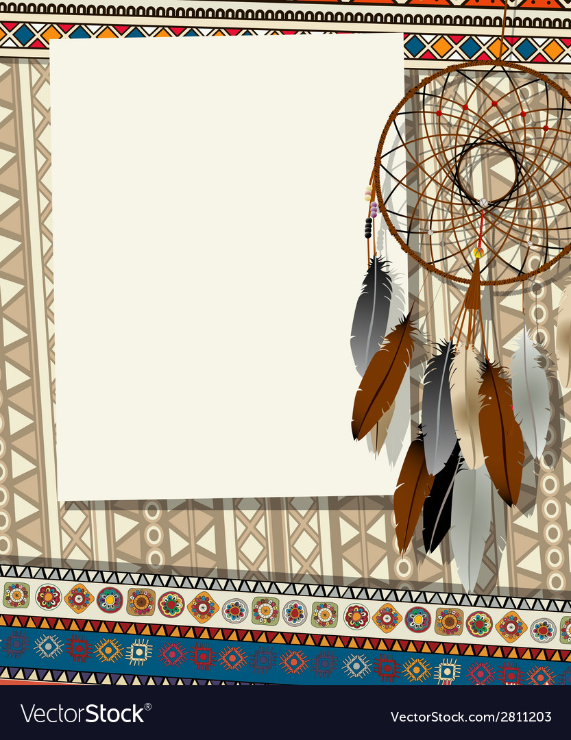 Dream catcher card 2 vector | Price: 1 Credit (USD $1)