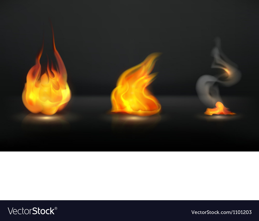 Flames set vector | Price: 1 Credit (USD $1)