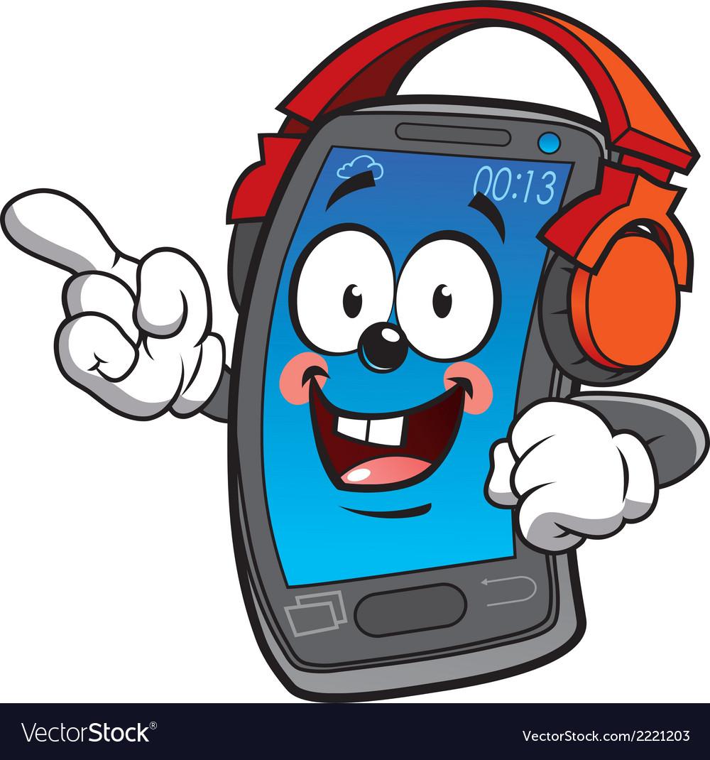 Happy smartphone vector