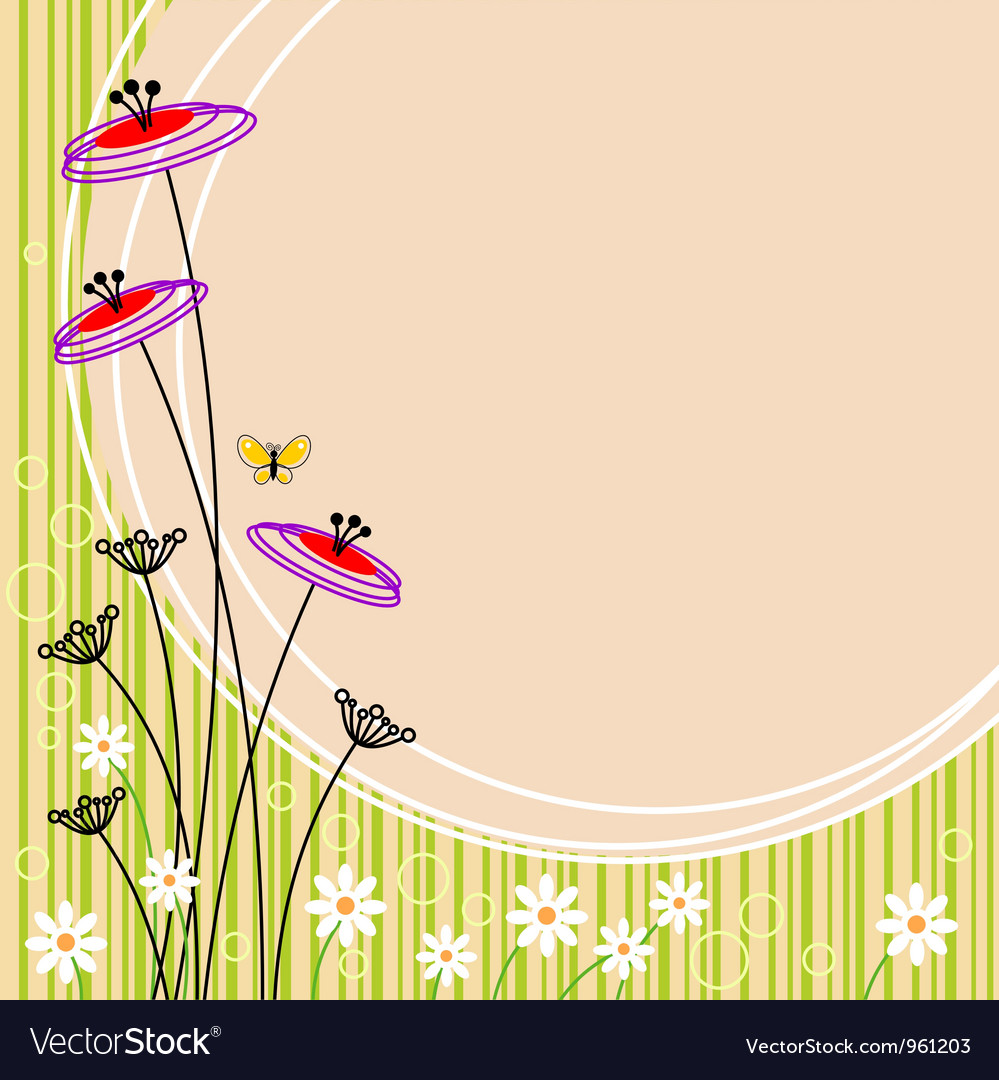 Image flower landscape vector | Price: 1 Credit (USD $1)