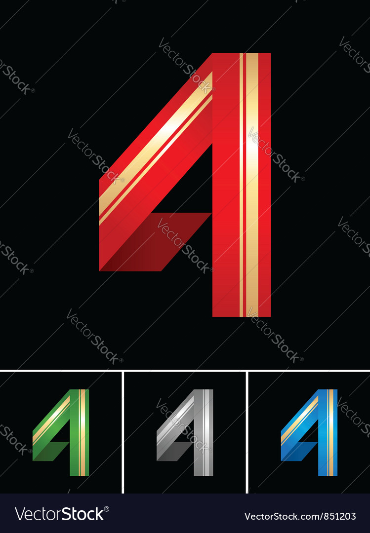 Numeral of paper tape - 4 vector | Price: 1 Credit (USD $1)