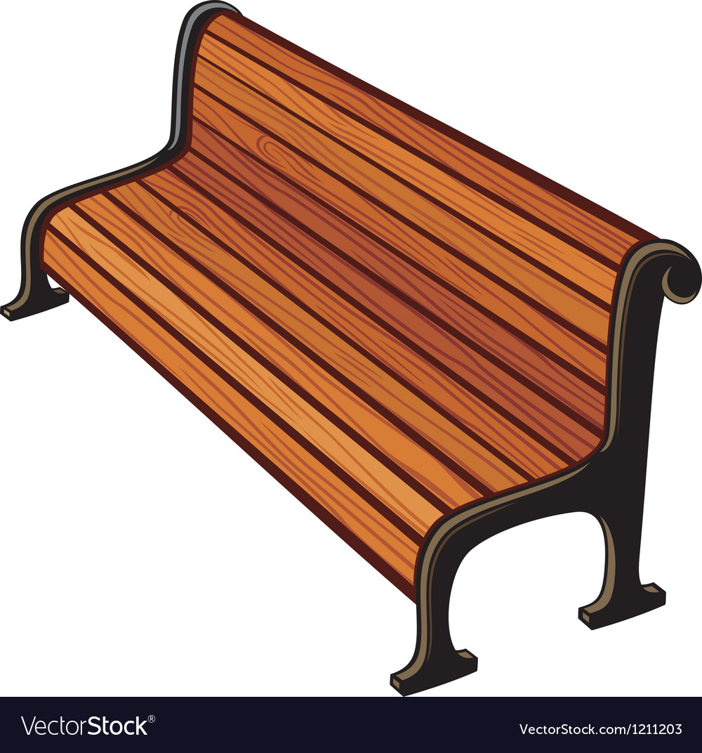Park bench vector | Price: 1 Credit (USD $1)