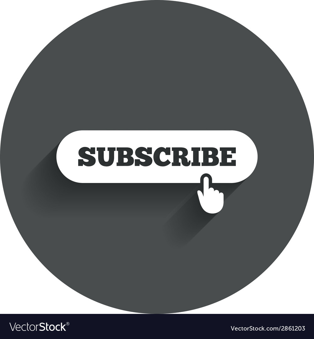 Subscribe with hand pointer icon membership vector | Price: 1 Credit (USD $1)