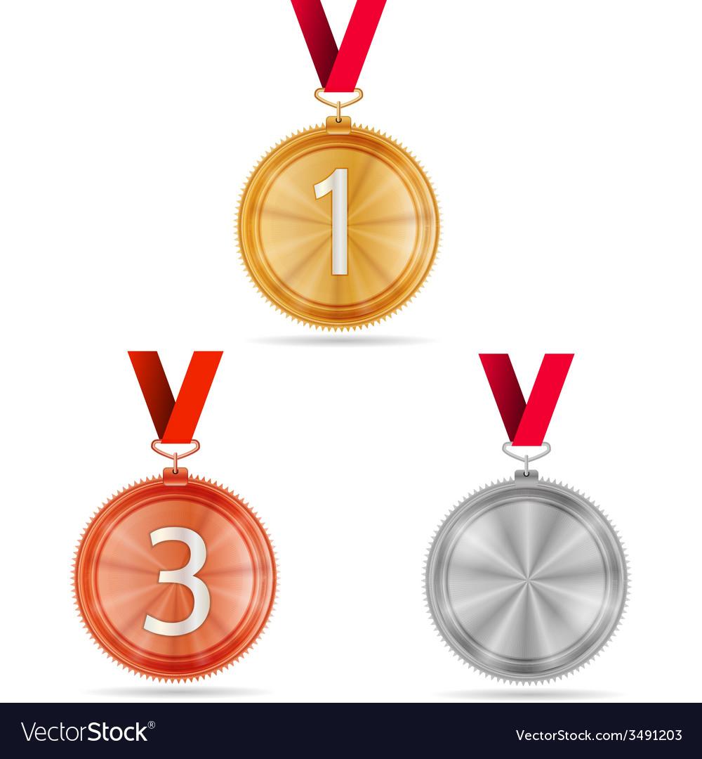 Winner medals vector | Price: 1 Credit (USD $1)