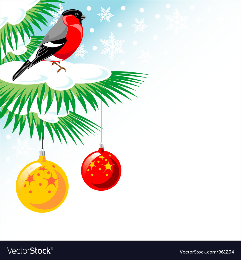 Christmas tree its snowing vector | Price: 1 Credit (USD $1)