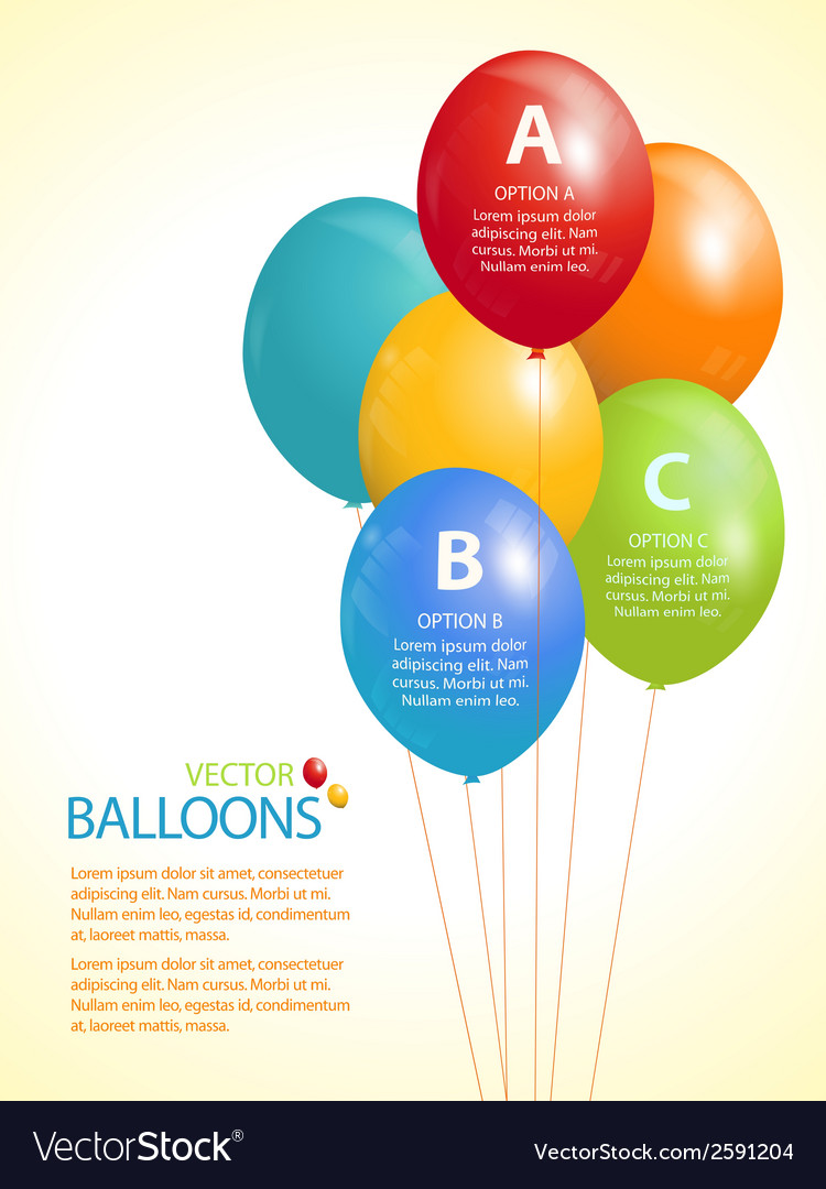 Colourful balloon infographic background vector | Price: 1 Credit (USD $1)