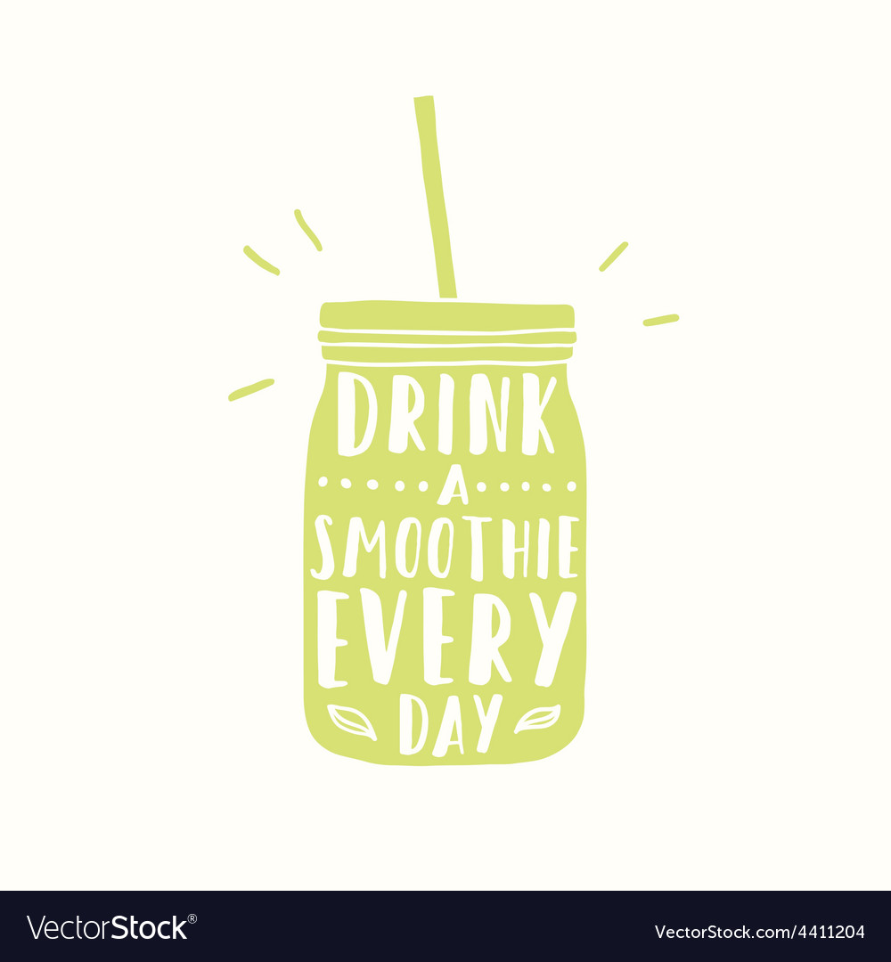 Drink smoothie everyday jar silhouette vector | Price: 1 Credit (USD $1)