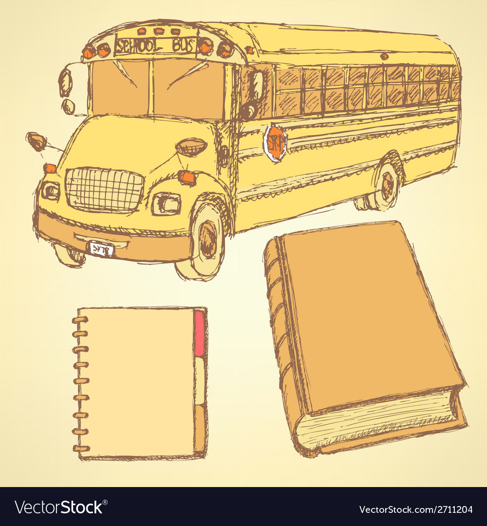 Education bus vector | Price: 1 Credit (USD $1)