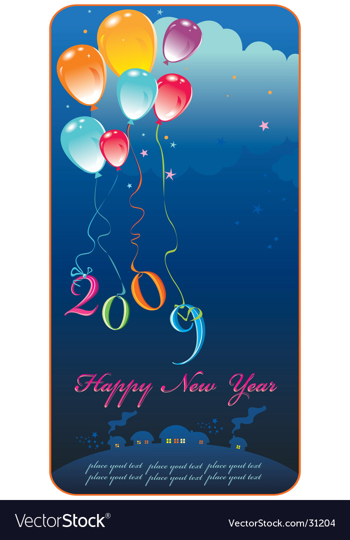 Greeting card 2009 vector | Price: 1 Credit (USD $1)