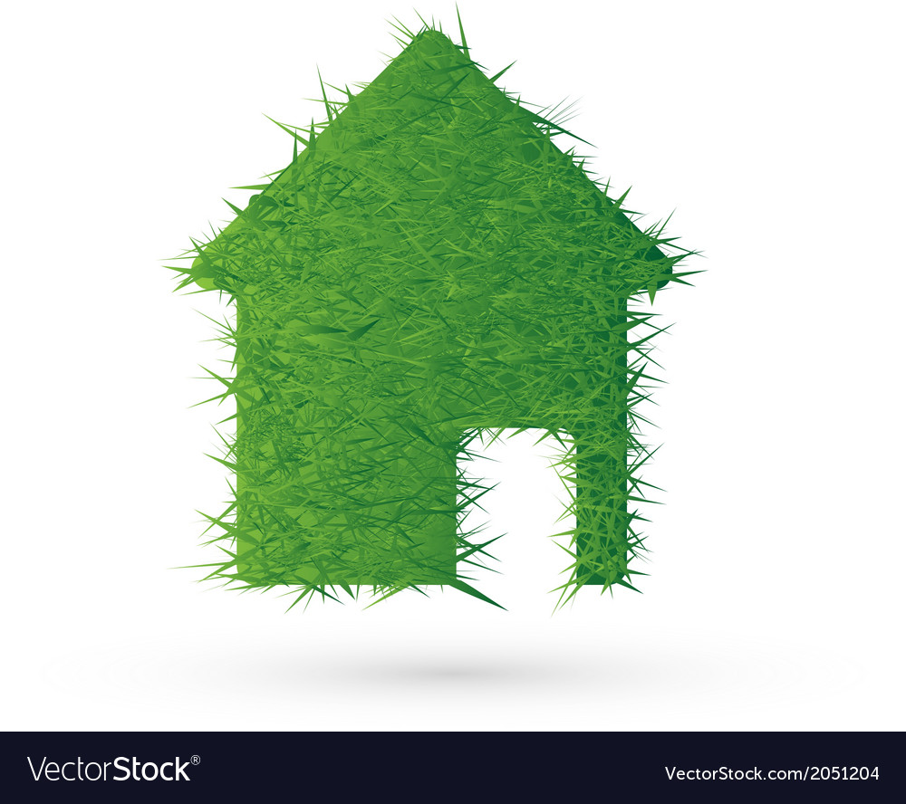 House icon and ecology eps10 vector | Price: 1 Credit (USD $1)