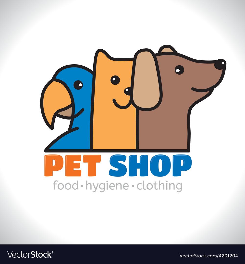 Logo shop pet vector
