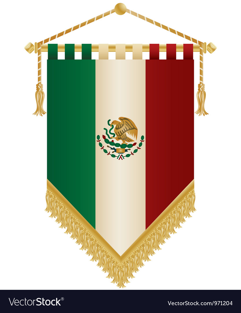 Mexico pennant vector | Price: 1 Credit (USD $1)