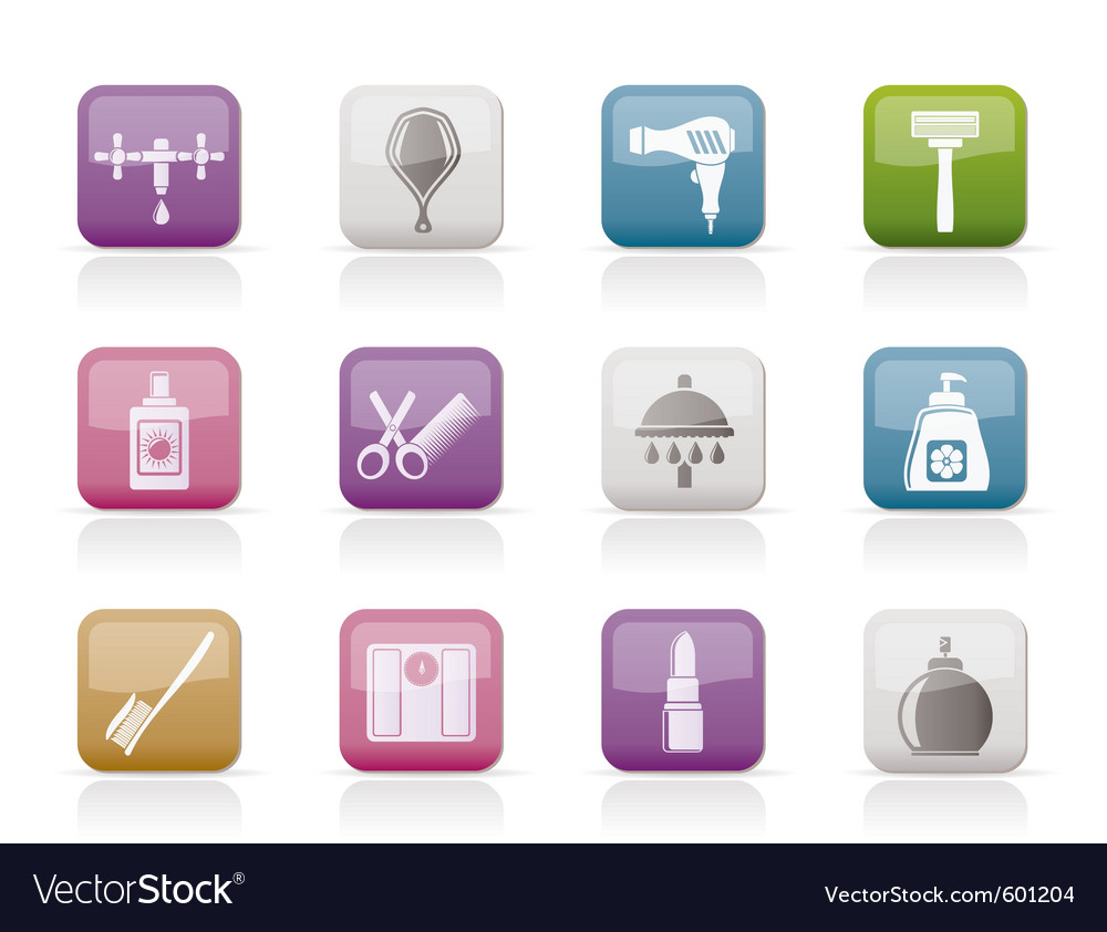 Personal care and cosmetics icons vector | Price: 1 Credit (USD $1)