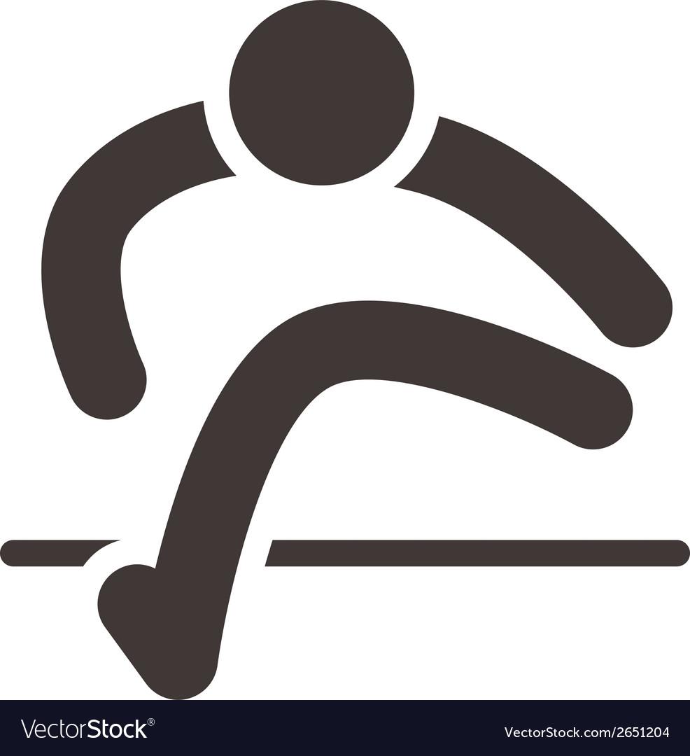 Running hurdles icon vector   Price: 1 Credit (USD $1)