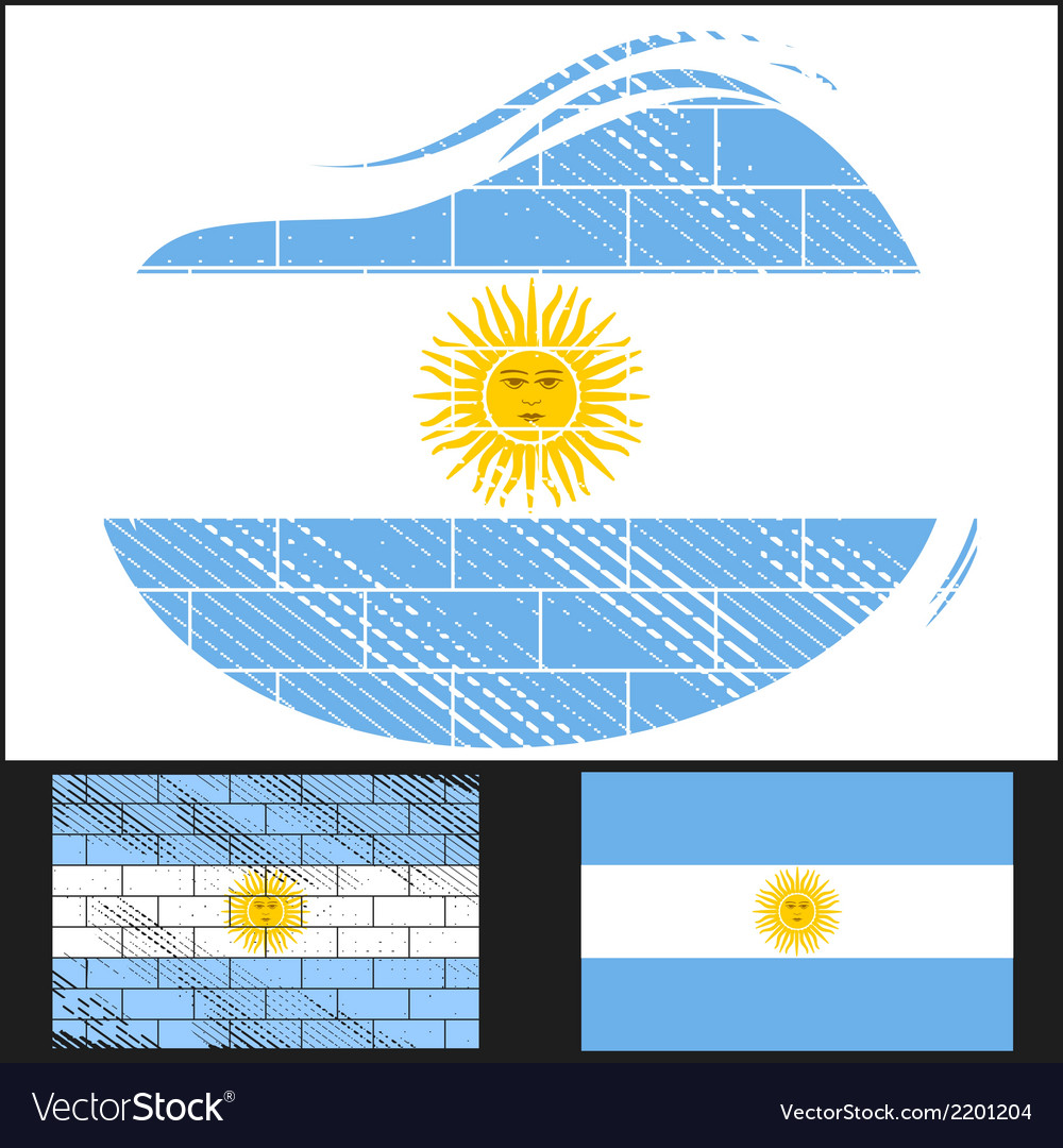 Scratched flag of argentina vector | Price: 3 Credit (USD $3)