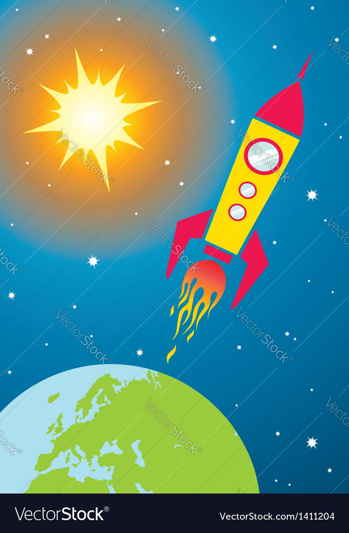 Spacecraft in space vector | Price: 1 Credit (USD $1)