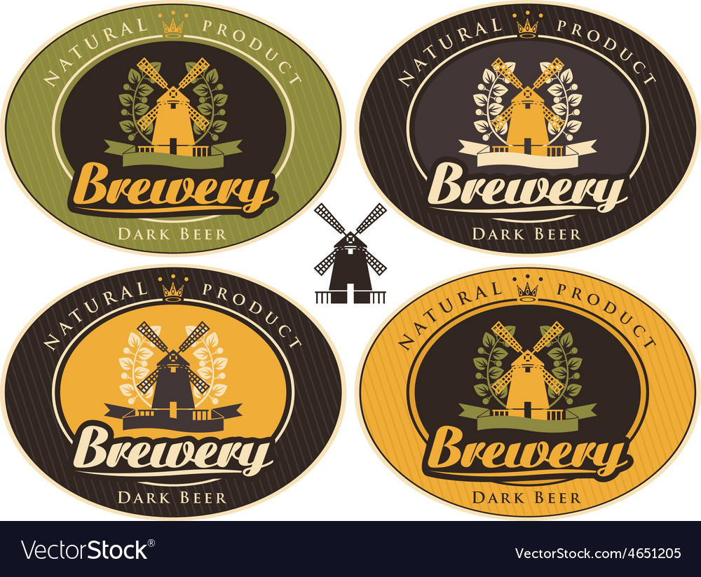 Brewery label vector | Price: 1 Credit (USD $1)
