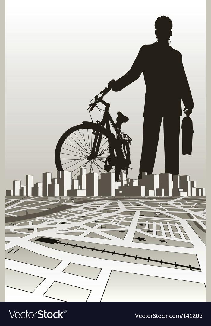 City biker vector | Price: 1 Credit (USD $1)