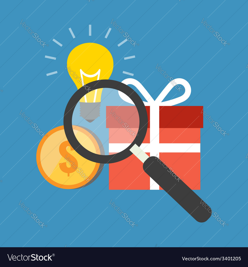 Efficient search concept flat design stylish vector   Price: 1 Credit (USD $1)