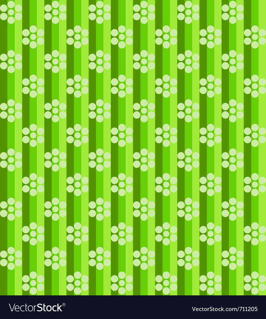 Flowers on green lines vector | Price: 1 Credit (USD $1)