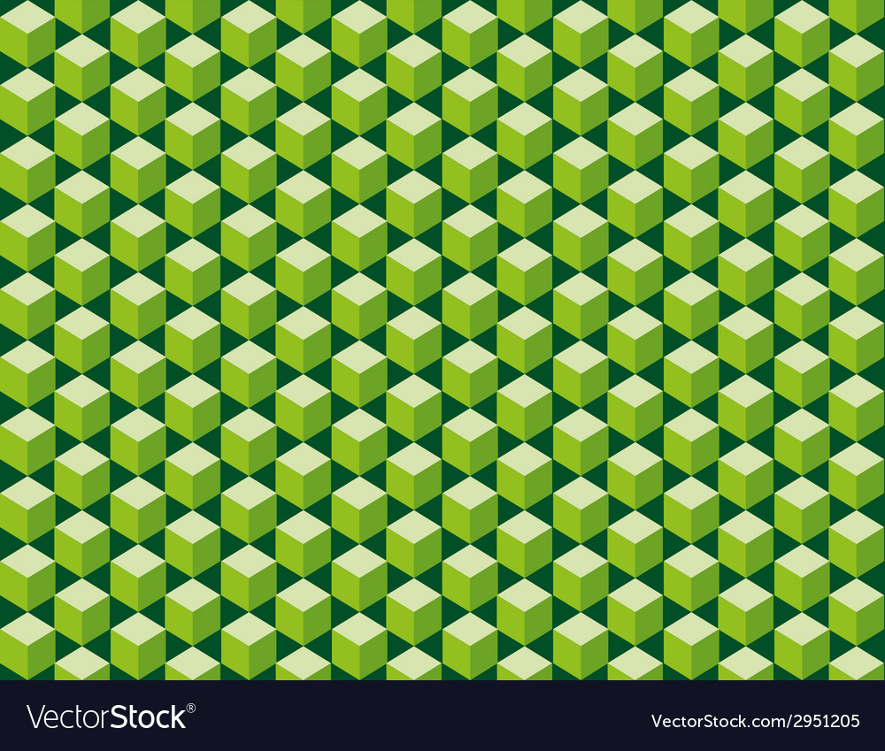 Green cubes seamless texture vector | Price: 1 Credit (USD $1)