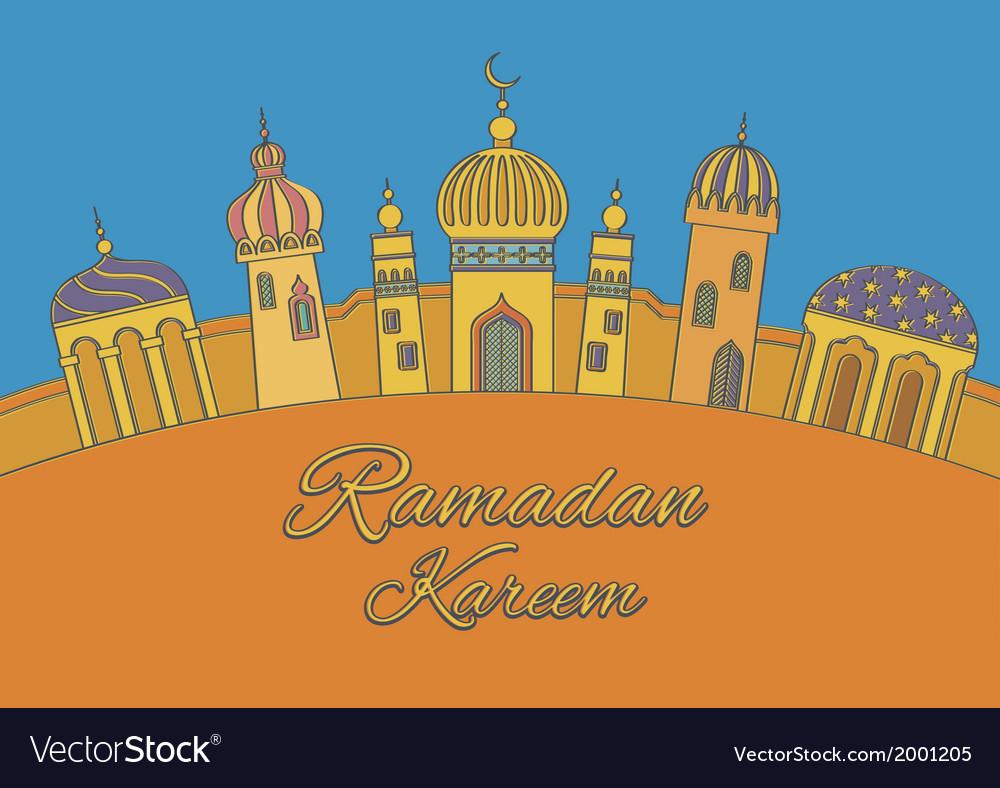 Greeting card ramadan kareem vector | Price: 1 Credit (USD $1)