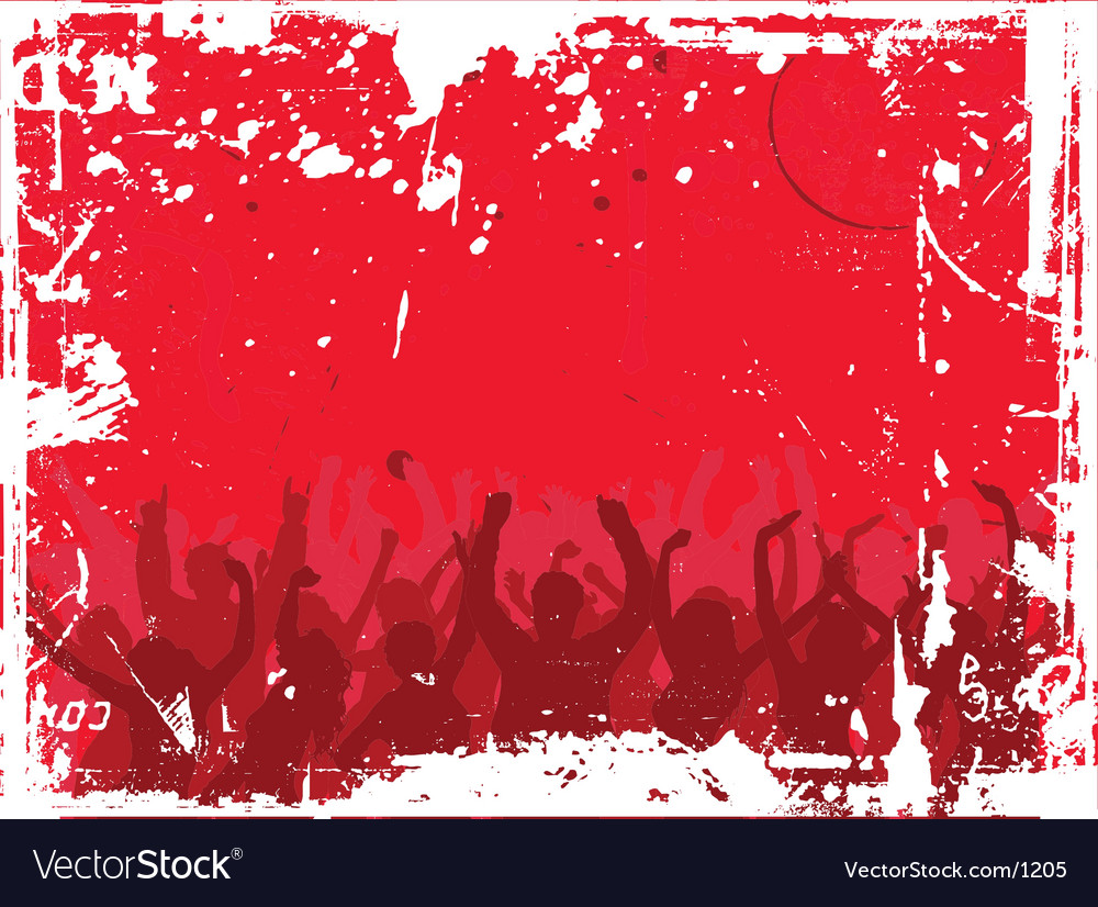 Grunge audience vector | Price: 1 Credit (USD $1)