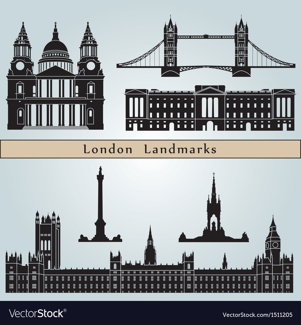 London landmarks and monuments vector | Price: 3 Credit (USD $3)