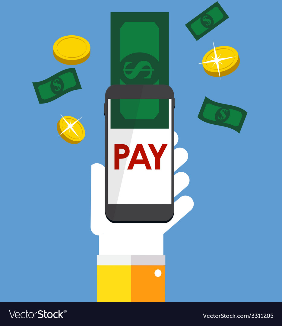Mobile banking payment flat concept vector   Price: 1 Credit (USD $1)