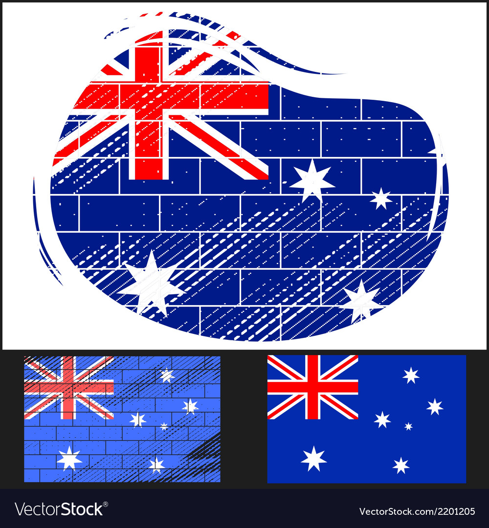 Scratched flag of australia vector | Price: 3 Credit (USD $3)