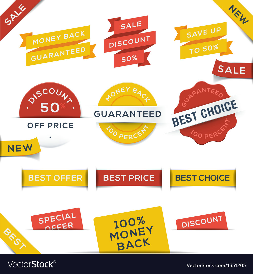 Set of badges and stickers vector | Price: 1 Credit (USD $1)