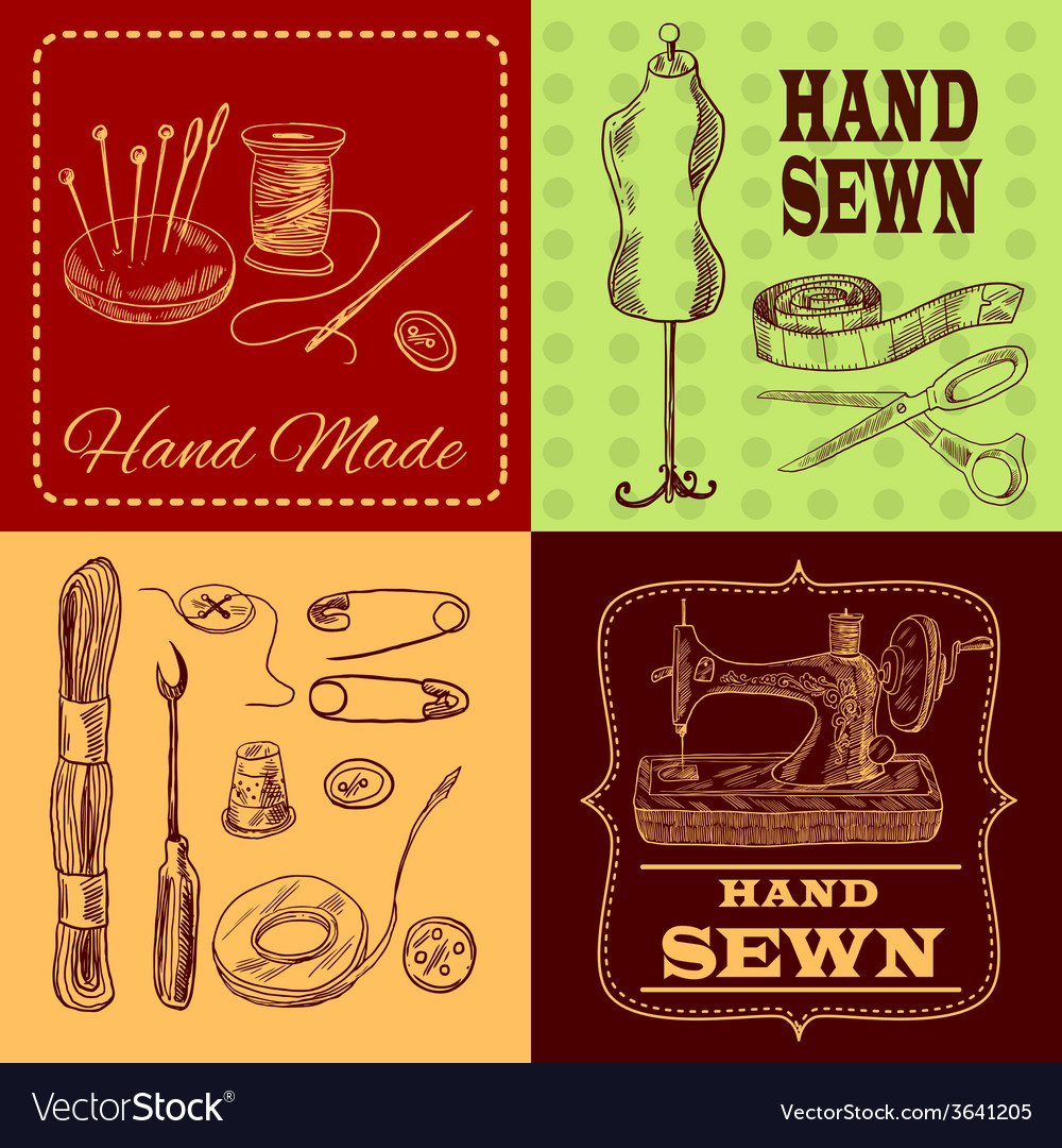 Sewing design concept vector | Price: 1 Credit (USD $1)